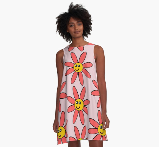 'Happy Daisy Flower' A-Line Dress by julianlab