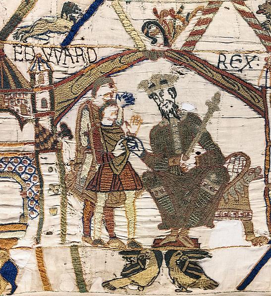 Archivo: Bayeux Tapestry scene1 EDWARD REX.jpg