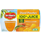 Del Monte Diced Peaches In Light Syrup Fruit Cups - 4pk