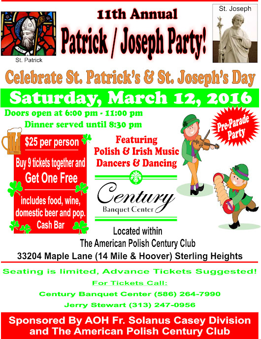 11th Annual Patrick/Joseph Party - Sterling Heights Banquet Halls, Wedding Venues & More