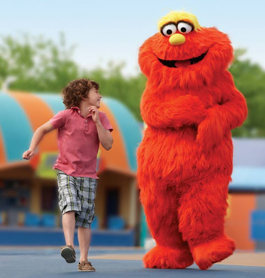 Murray the Monster hits the streets of Busch Gardens Williamsburg at Sesame Street Forest of Fun