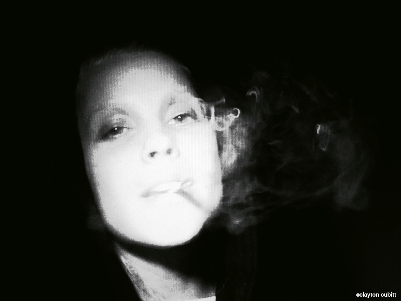 Yolandi smoking (video still)