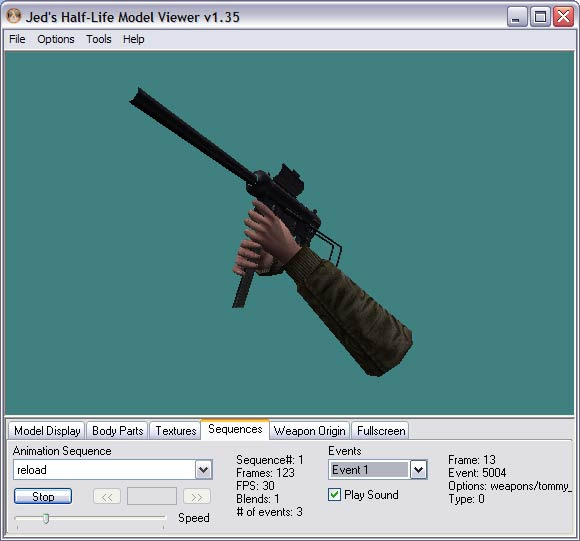 Jed's Half - Life Model Viewer 1.36