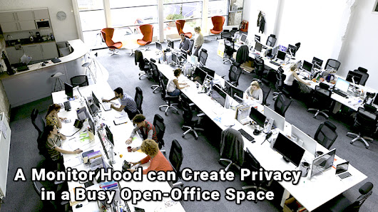 Photodon's Monitor Hood for the Open Office | Photodon