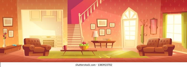 Cool Apartment Living Room Anime Background Photos