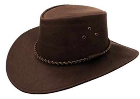 packer black  brown leather cowboy hat  kakadu