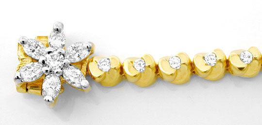 Foto 1, Topdesign-Goldarmband, Diamanten 1,02ct 14Karat Bicolor, S8626