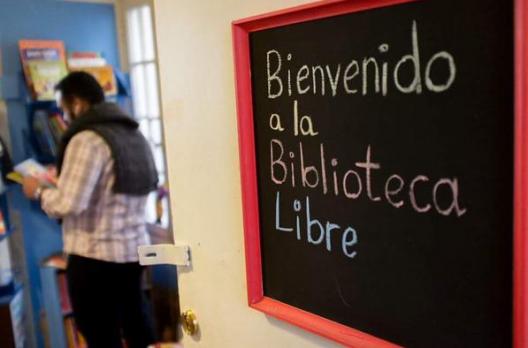 Sede de La Biblioteca Libre en Bellas Artes. © Municipalidad de Santiago, vía Twitter.