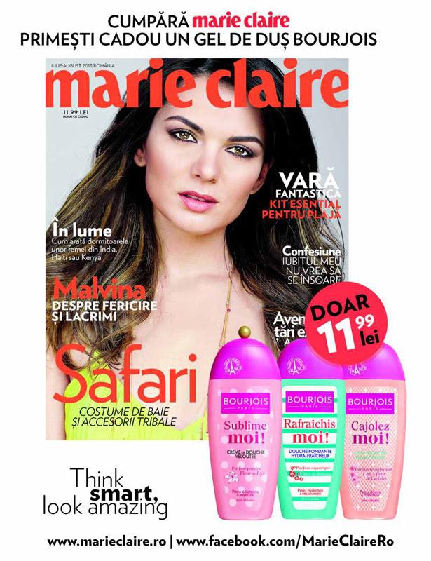 Promo pentru revista Marie Claire Romania, editia Iulie-August 2013