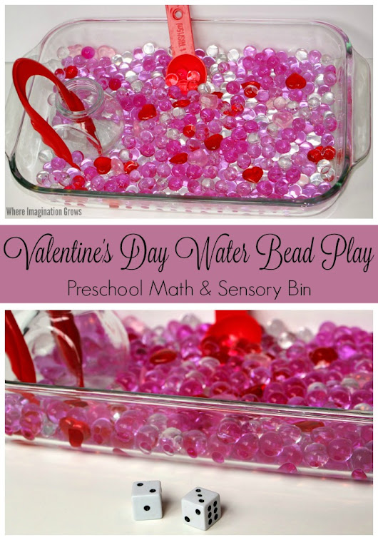 Valentine's Day Sensory Bin & Math Game for Preschoolers - Where Imagination Grows