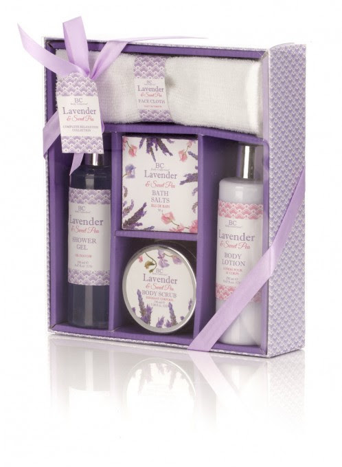SET BAÑO BODY COLLECTION LAVENDER COMPLETE RELAXATION COLLECTION NEW