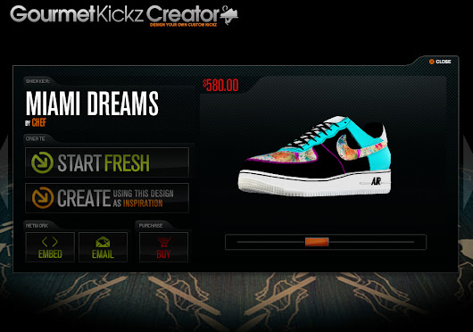 The GourmetKickz Creator Design Your Own AF1