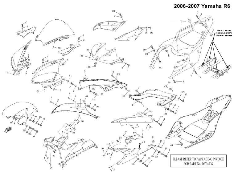 Wiring Diagram  33 2006 Yamaha R6 Parts Diagram