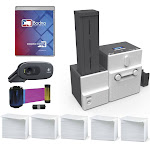 IDP Smart 70 Single Sided ID Card Printer & Complete Supplies Package with Bodno Diamond Edition ID Software