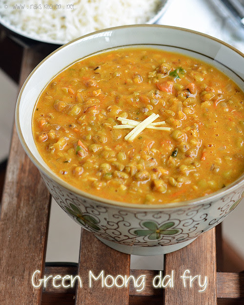 Green Kitchen Recipes: Green Moong Dal Fry Recipe