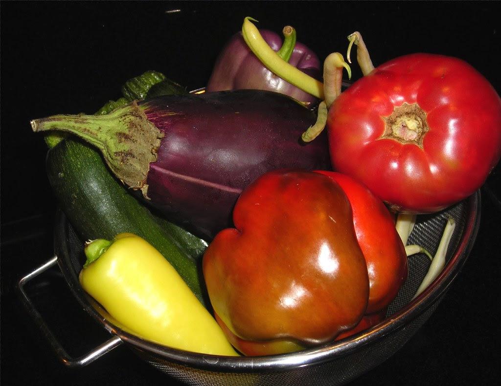 Veggies for ratatouille