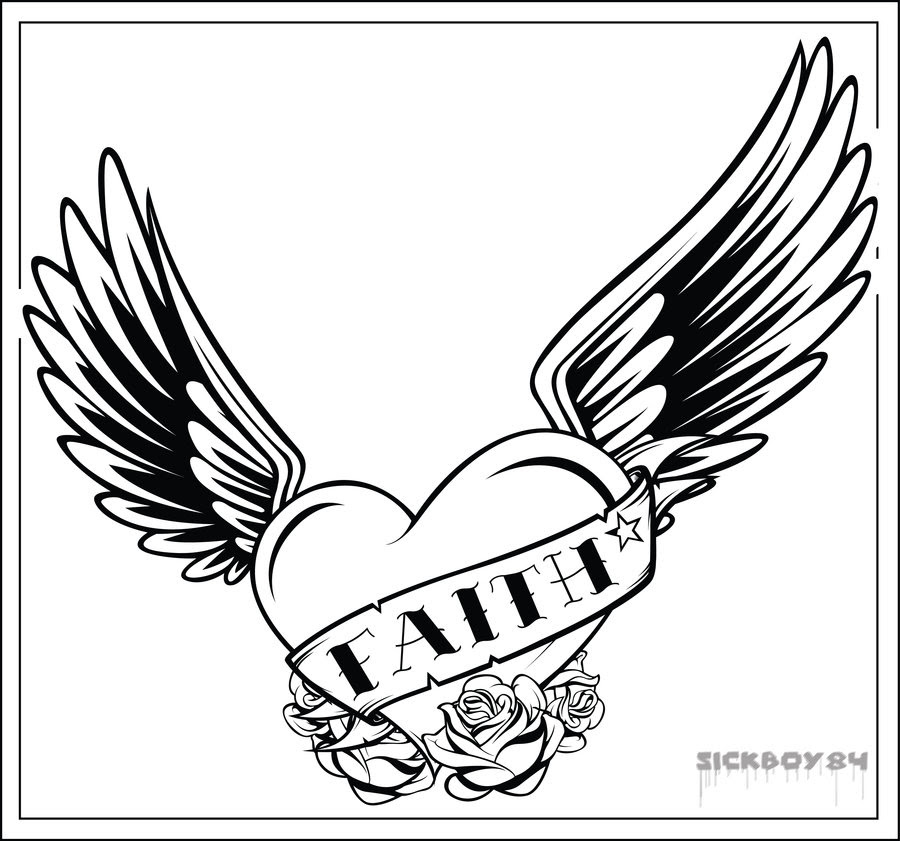 Gallery For Heart With Wings Tattoo Meaning Clip Art Library