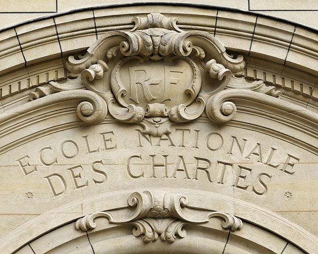 Pediment Ecole nationale des Chartes Sorbonne