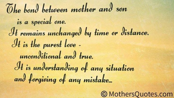 Quotes About Mother And Son Bond. QuotesGram