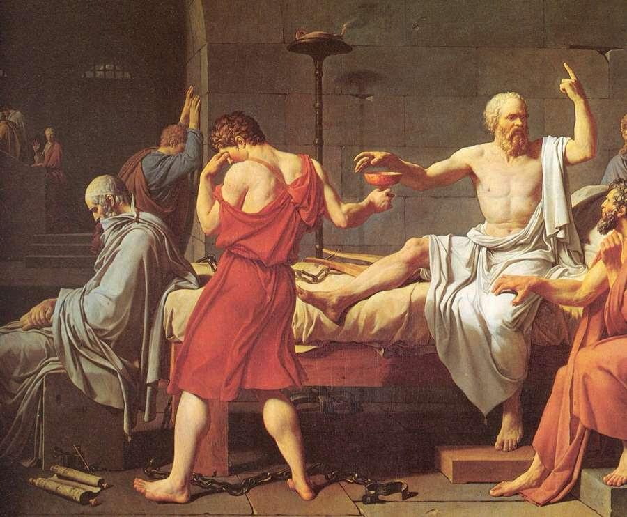"""Resultado de imagen para Jacques –Louis David, llamada """"La muerte de Sócrates"""""""