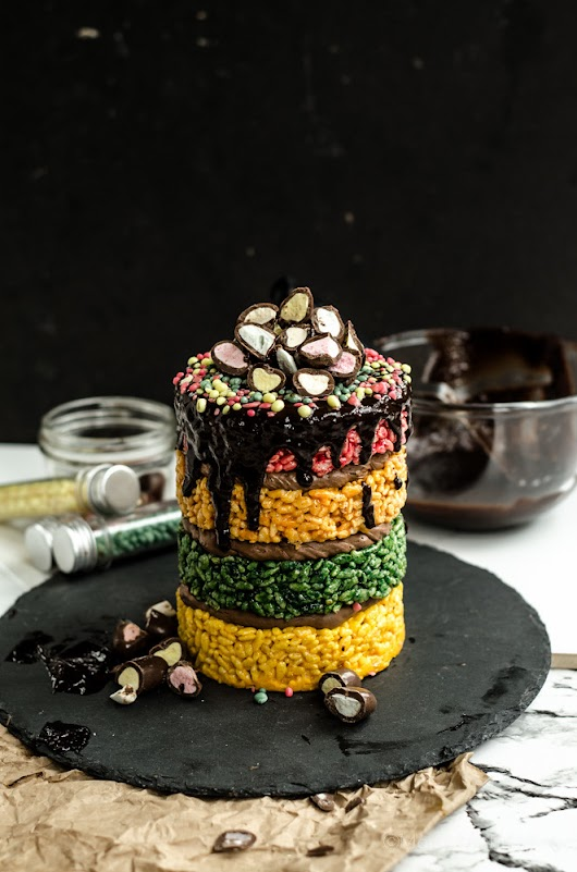 It's my 2nd Birthday! (blog that is) /-/ Fruity Clinkers Rice Krispy Cake