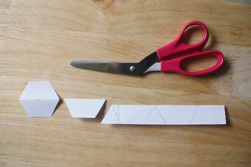 Step 4: Cut Paper Hexagons