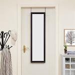 "Over The Door Mirror by Naomi Home Color Espresso, Size 42"" x 14"""