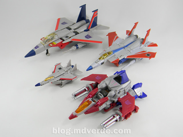Transformers Starscream Deluxe - Generations Fall of Cybertron - modo alterno vs otros Starscream