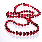 Metallic Heart Bead Necklaces