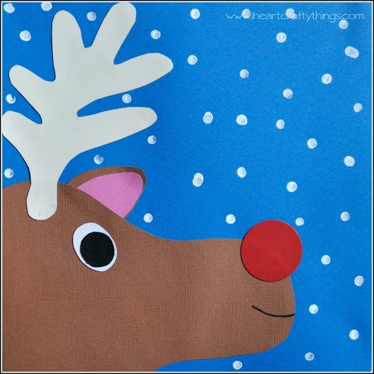 Rudolph Paper Craft for Kids | I Heart Crafty Things