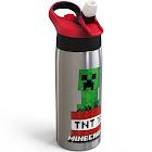 Minecraft 19oz Stainless Steel Water Bottle Red/Green - Zak Designs