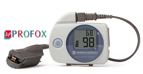 Konica Minolta Pulsox-300i Pulse Oximeter Sleep Study Kit with Finger Clip Probe and PROFOX Software - R204P18