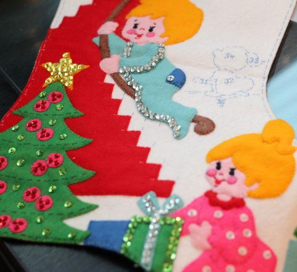 Bucilla Vintage Christmas Stocking photo Stockingandbooks002_zps32e6228f.jpg