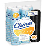 Chinet Comfort Hot Coffee Cups and Lids, 16 oz - 60 count