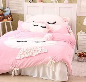 Amazon.com - DIAIDI Home Textile, Cute Cat Bedding Set, Girls ...