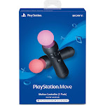 Sony PlayStation Move motion Wireless Motion Controller with Motion Sensor for PS4 - Pack of 2