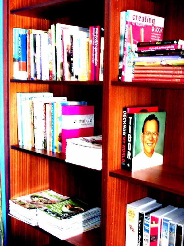cookbook shelf saturated
