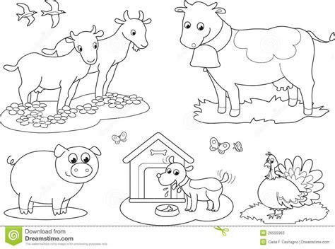 printable colouring pictures  farm animals farm animal