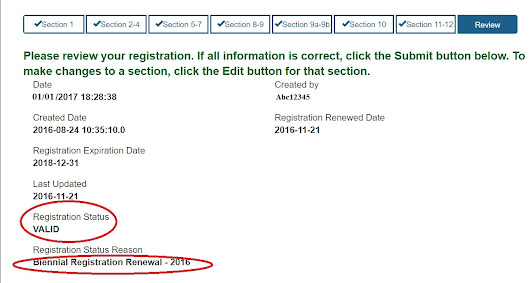 Why my FDA Registration status is Invalid?