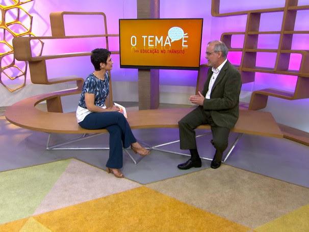 No programa, Horácio falou sobre os principais abusos no trânsito cometidos pelos brasileiros (Foto: Globo)