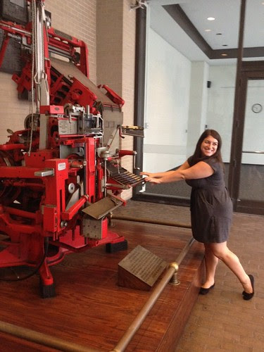 Emily and the printing press
