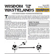 A Review of the Role Playing Game Supplement Wisdom from the Wastelands Issue #26: Energy Weapons