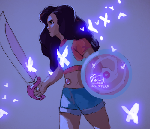 aut2imagineart said: I saw that you're taking fan art requests. Do you think you can do Stevonnie from Steven Universe? Answer: Been meaning to draw this pair, here you go.
