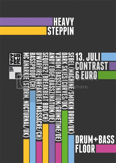Flyer Contrast DnB Floor