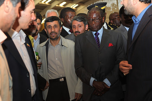Reports indicate that the Islamic Republic of Iran and the Republic of Zimbabwe will announce a major resource agreement. Pictured here are Presidents Mahmoud Ahmadinejad and Robert Mugabe during a April 2011 visit by the Southern African leader. by Pan-African News Wire File Photos