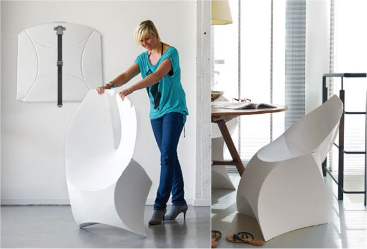 Futuristic Folding Office Chair | DigsDigs