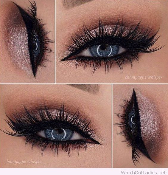 Eye makeup looks for blue eyes with black