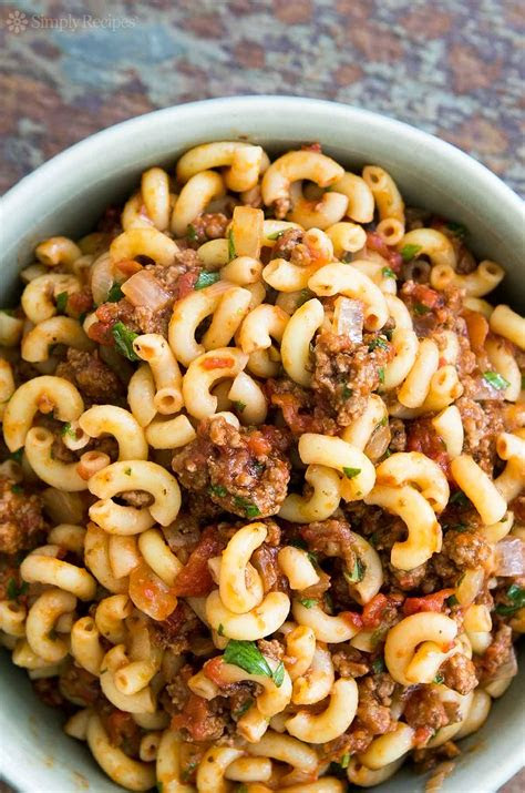 hamburger  macaroni recipe dishmaps