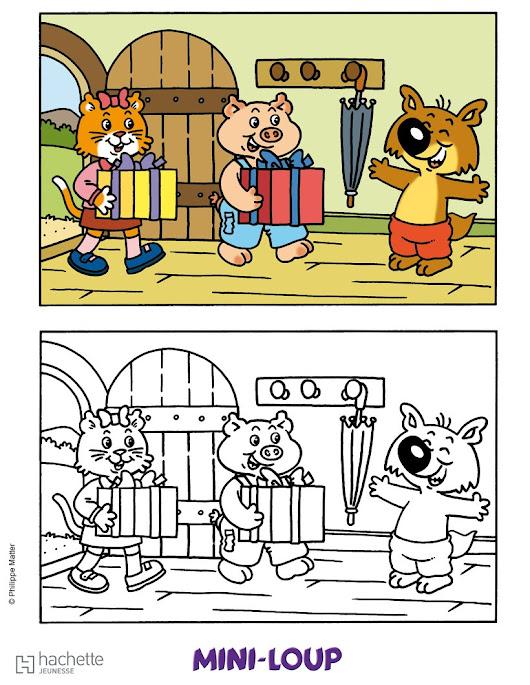 Peter hamon google - Mini loup coloriage ...