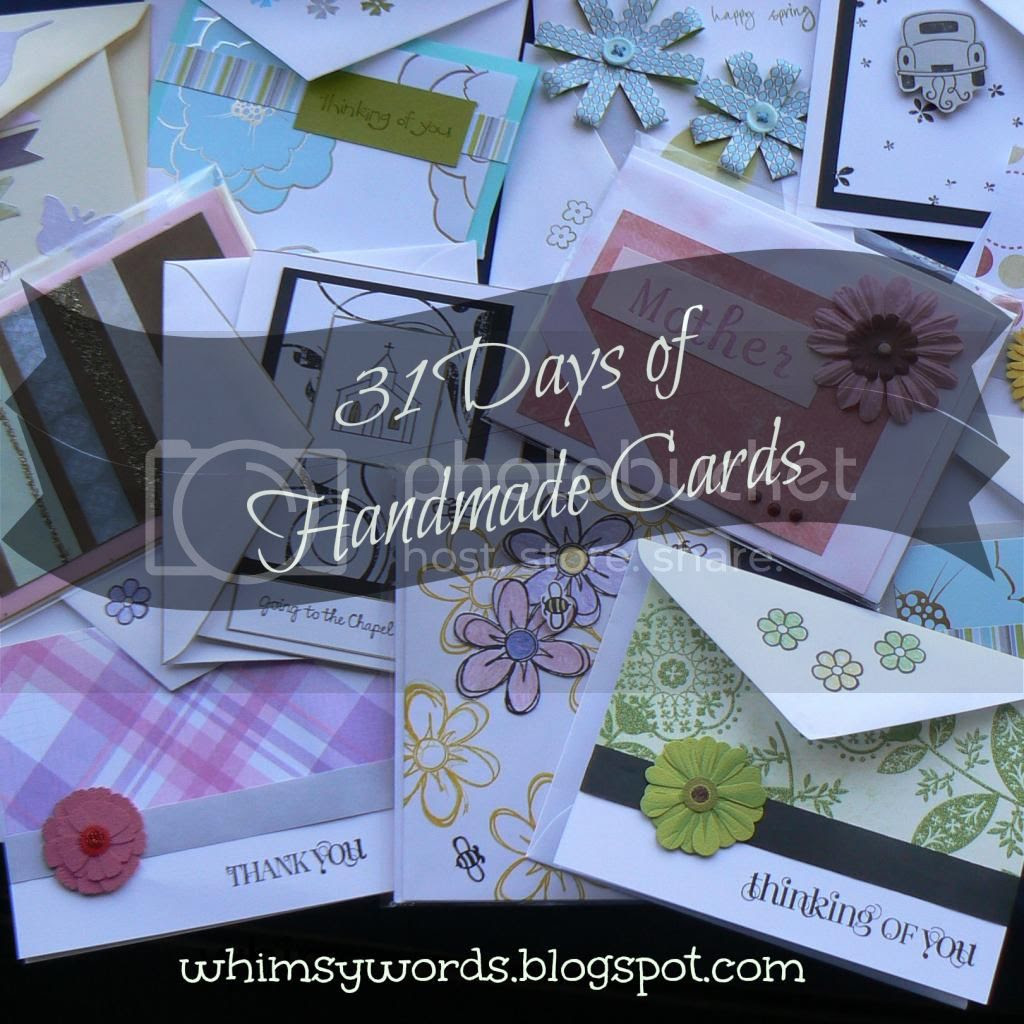 31 Days of Handmade Cards #whimsicalwords